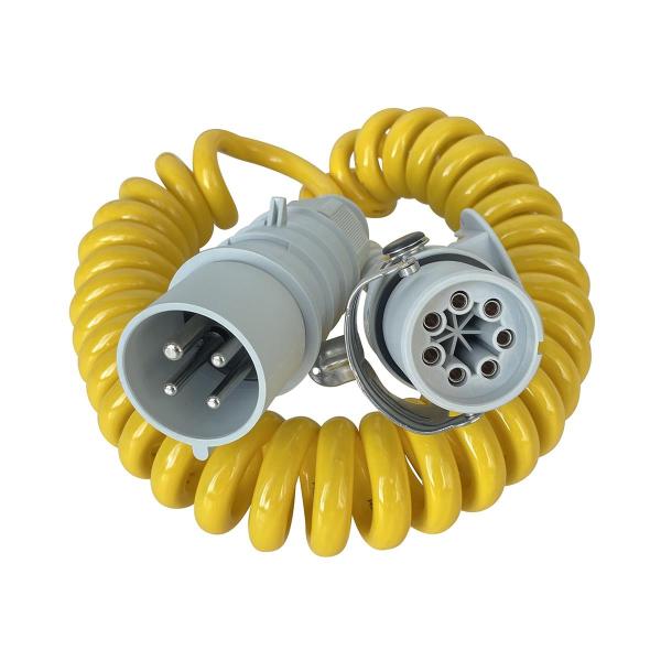 Spiralkabel-Adapter 4-pol 1h / 7-pol SC