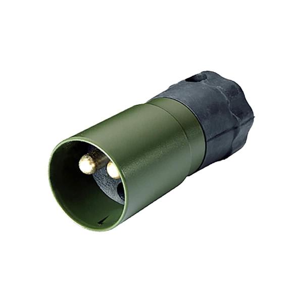 Stecker 2-polig Olivgrün (NATO)